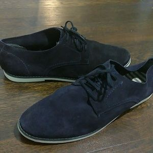 Zara navy blue lace up casual sneakers size 10